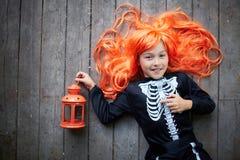 Девушка с фонариком Стоковое фото RF