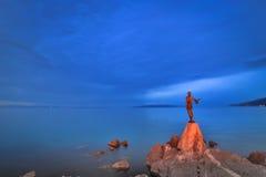 Девушка с чайкой Стоковое Фото