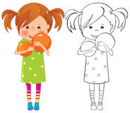 Девушка с шариком Стоковые Фото