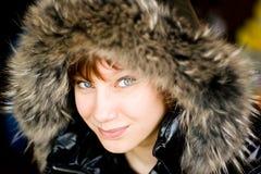 Девушка с шерстью Стоковые Фотографии RF