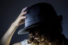 Девушка с шлемом Стоковая Фотография RF