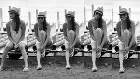 Девушка с шляпой стоковое изображение