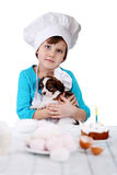 Девушка с щенком Стоковое Фото
