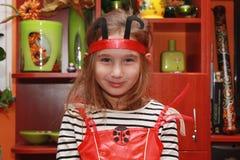 Девушка с costume Стоковая Фотография