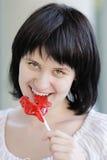 Девушка с lollipop Стоковое Изображение RF