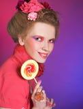 Девушка с Lollipop стоковая фотография