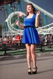 Девушка с lollipop стоковая фотография rf