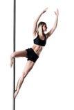 Девушка танца поляка Стоковая Фотография
