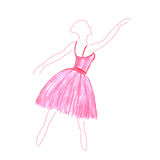 Девушка танцев акварели Стоковые Изображения