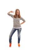 Девушка танцев Стоковое Изображение RF