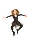 Девушка танцора в воздухе Стоковое Фото