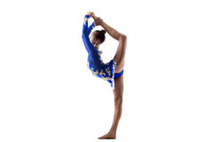Девушка танцора делая стоя разделения Стоковая Фотография
