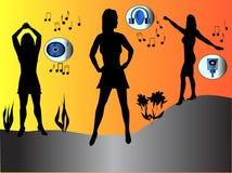 девушка танцора Бесплатная Иллюстрация