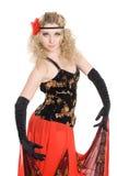 Девушка танцует танцулька испанского языка. Стоковое Изображение