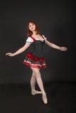 Девушка танцуя балет Стоковые Фото
