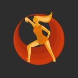 Девушка танцуя запальчиво и элегантно Стоковые Изображения