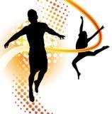 девушка танцы мальчика Стоковые Изображения