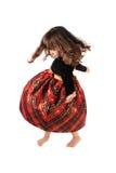 девушка танцы немногая закручивая стоковая фотография rf