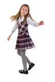девушка танцы немногая Стоковое Изображение