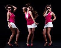 девушка танцы подростковая Стоковое Фото