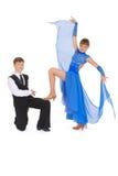 девушка танцы танцульки мальчика бального зала Стоковое Фото