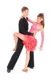 девушка танцы танцульки мальчика бального зала Стоковые Изображения