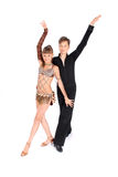 девушка танцы танцульки мальчика бального зала Стоковая Фотография