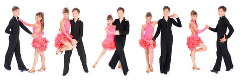 девушка танцы танцульки мальчика бального зала Стоковое фото RF