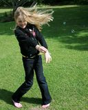 девушка танцы Стоковые Изображения