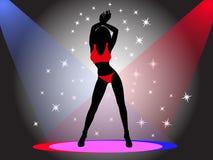 девушка танцы Иллюстрация штока