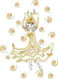 девушка танцы rgb Стоковые Изображения RF