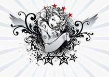 Девушка татуировки иллюстрация штока