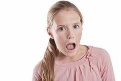 Сотрястенная девушка стоковое изображение rf