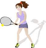 Девушка тенниса Стоковые Изображения RF