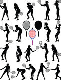Девушка теннисиста Иллюстрация вектора