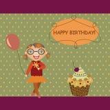 девушка торта шарика Стоковое фото RF