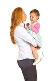 Девушка удерживания женщины дела плача Стоковое Фото