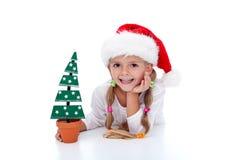 девушка украшения рождества счастливая стоковые изображения