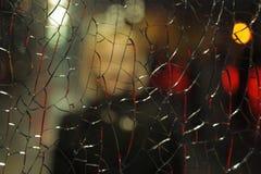 Девушка думала сломленное стекло стоковые фотографии rf