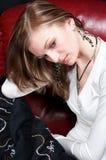 девушка унылая Стоковые Изображения RF