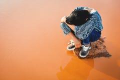 девушка унылая Стоковая Фотография
