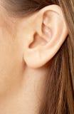 девушка уха брюнет Стоковое фото RF