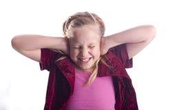 девушка ушей заволакивания стоковое изображение rf
