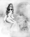 девушка фантазии Стоковая Фотография RF