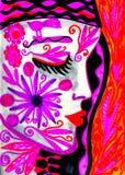 Девушка фантазии стоковые изображения