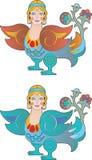 Девушка Феникса цвета Стоковые Изображения RF