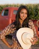 девушка фермы Стоковые Фотографии RF