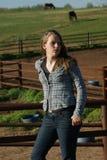 девушка фермы Стоковое фото RF
