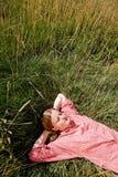 девушка фермы Стоковое Изображение