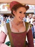 Девушка фестиваля ренессанса Аризоны Стоковое фото RF